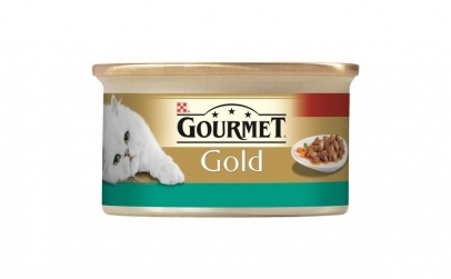 Gourmet Gold, Pui & Somon in sos, 85g