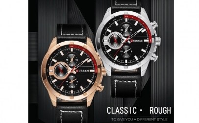Ceas Curren RoseGold Leisure Black