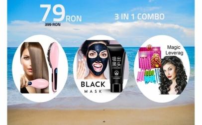 3in1 : perie,masca si bigudiuri
