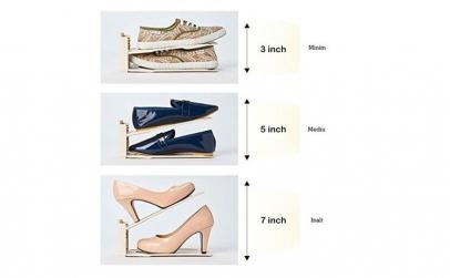 12 Organizatoare pantofi reglabili 3 poz