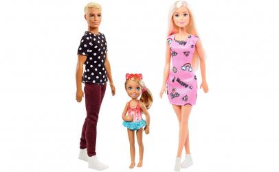 Set - Familia Barbie + Ken + Chelsea