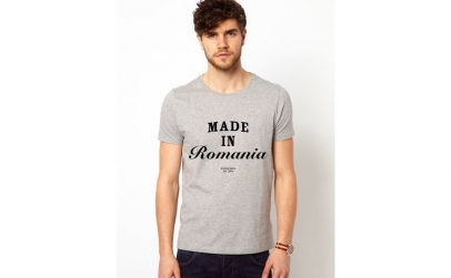 Tricou barbati gri - Made In Romania