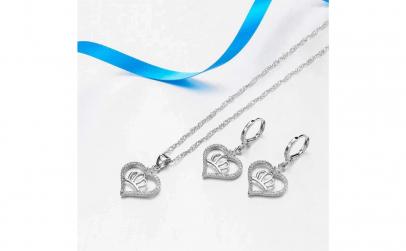 Set de bijuterii: lantisor + cercei