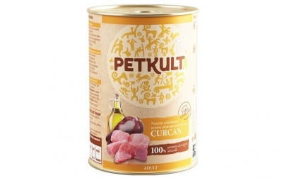 Conserva caini PetKult, Curcan, 400 g