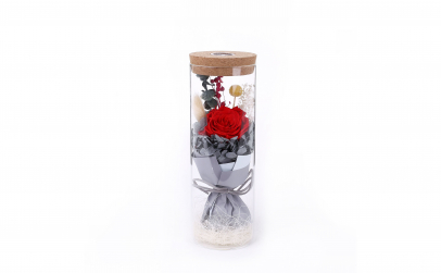 Aranjament trandafir criogenat rosu