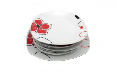 Set 7 piese ceramica, floare