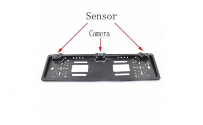 Suport auto de numar cu camera, senzori