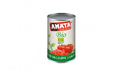 Rosii decojite cuburi bio 400g Amata