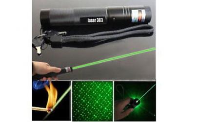 Laser verde 3D puternic - cu acumulator