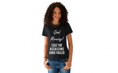 Tricou dama negru - Assassins faild