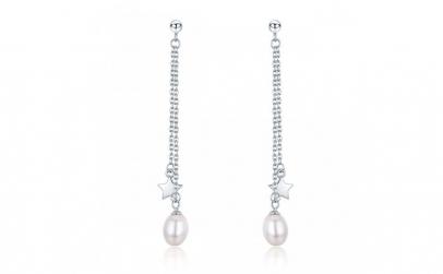 Cercei argint 925 cu perle fine
