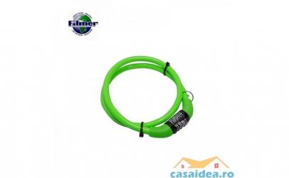 Cablu spiralat antifurt bicicleta cu