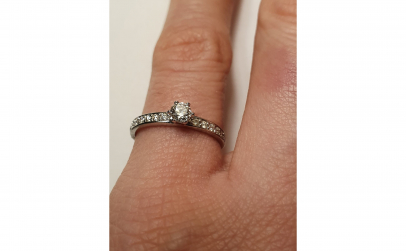 Inel de logodna din aur 14K cu diamant