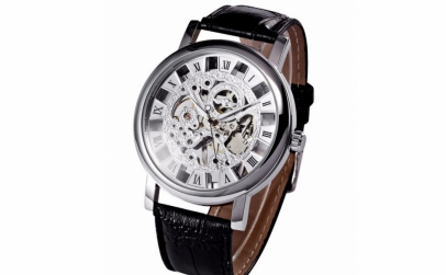 Ceas Winner Mecanic Skeleton Silver