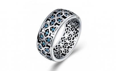 Inel argint 925 cu trifoi cu patru foi