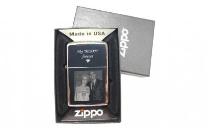 Bricheta personalizata Zippo gravata cu