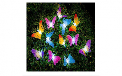 Sirag decorativ cu fluturi luminescenti