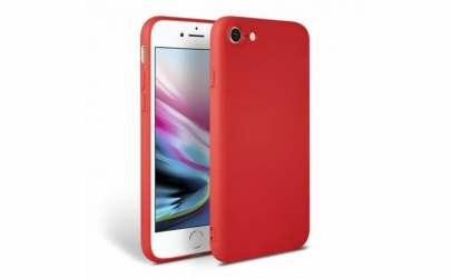 Husa iPhone 8 Rosu Silicon Slim