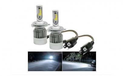 Set 2 becuri cu LED AUTO H4, 6000K