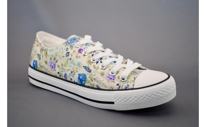 Tenisi Flowers - White la doar 49 RON in loc de 110 RON