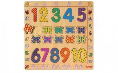 Puzzle din lemn Djeco   Cifre