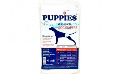 Scutece pentru caini Puppies, XXS, 12buc