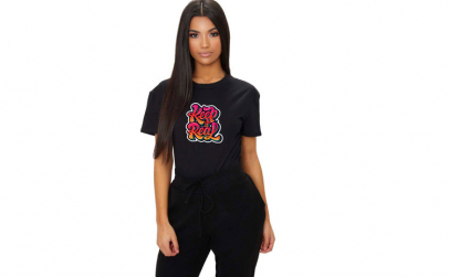 Tricou dama negru - Keep it real