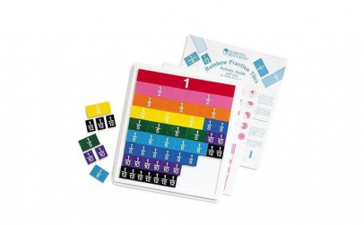 Invata fractiile in curcubeu   Rainbow