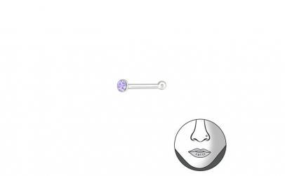 Piercing  nas din Argint, Rotund cu