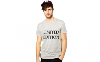 Tricou gri barbati, Limited Edition