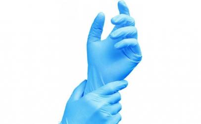 Set 10 Buc Manusi Nitril Albastru - S