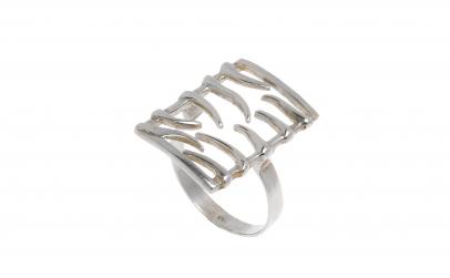 Inel din argint 925, dreptunghiular