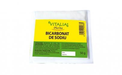 Bicarbonat de sodiu Vitalia Pharma, 50 g