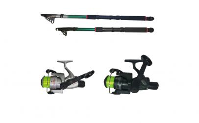 Set pescuit sportiv cu doua lansete