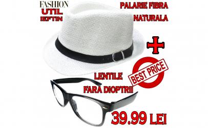 palarie+ ochelari wayfarer clear