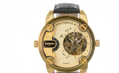 Ceas Barbatesc Goer automatic Gold  Big Black la doar 139 RON in loc de 280 RON