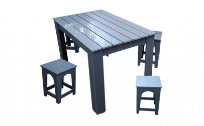Set masa pentru gradina cu scaune gri