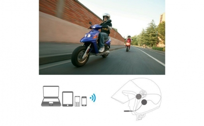 Casti stereo pentru casca motocicleta