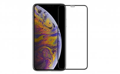 Folie sticla iPhone XS Black