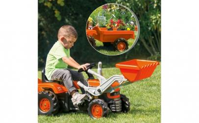 Tractor cu remorca si excavator Dolu