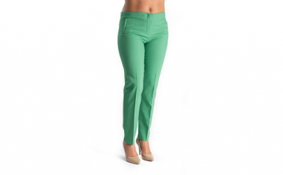 Pantaloni Eleganti Dama Verzi 36
