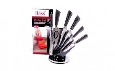 Set 6 cutite si suport acrilic Bass