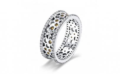 Inel argint 925 cu albinuta  fagure si