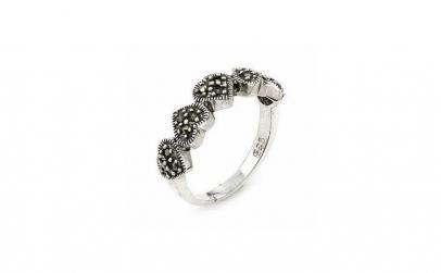 Inel argint 925 cu marcasite si cinci