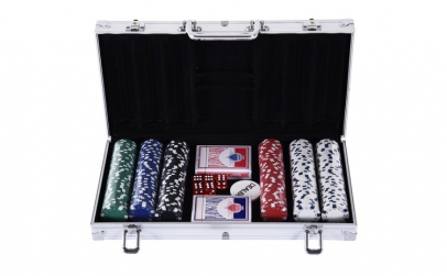 Set de poker cu 300 de jetoane 38 x 20.5