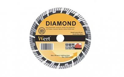 Disc diamantat segmentat turbo pentru