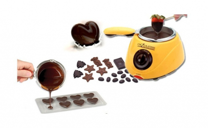 Aparat fondu de topit ciocolata + forme