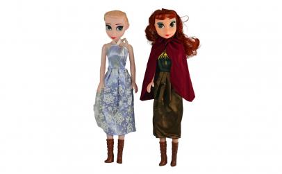 Set papusi Anna, Elsa 42 cm - canta