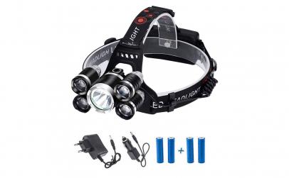 Lanterna de cap 5 LED 4 Acumulatori
