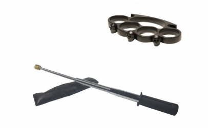 Set baston telescopic flexibil argintiu